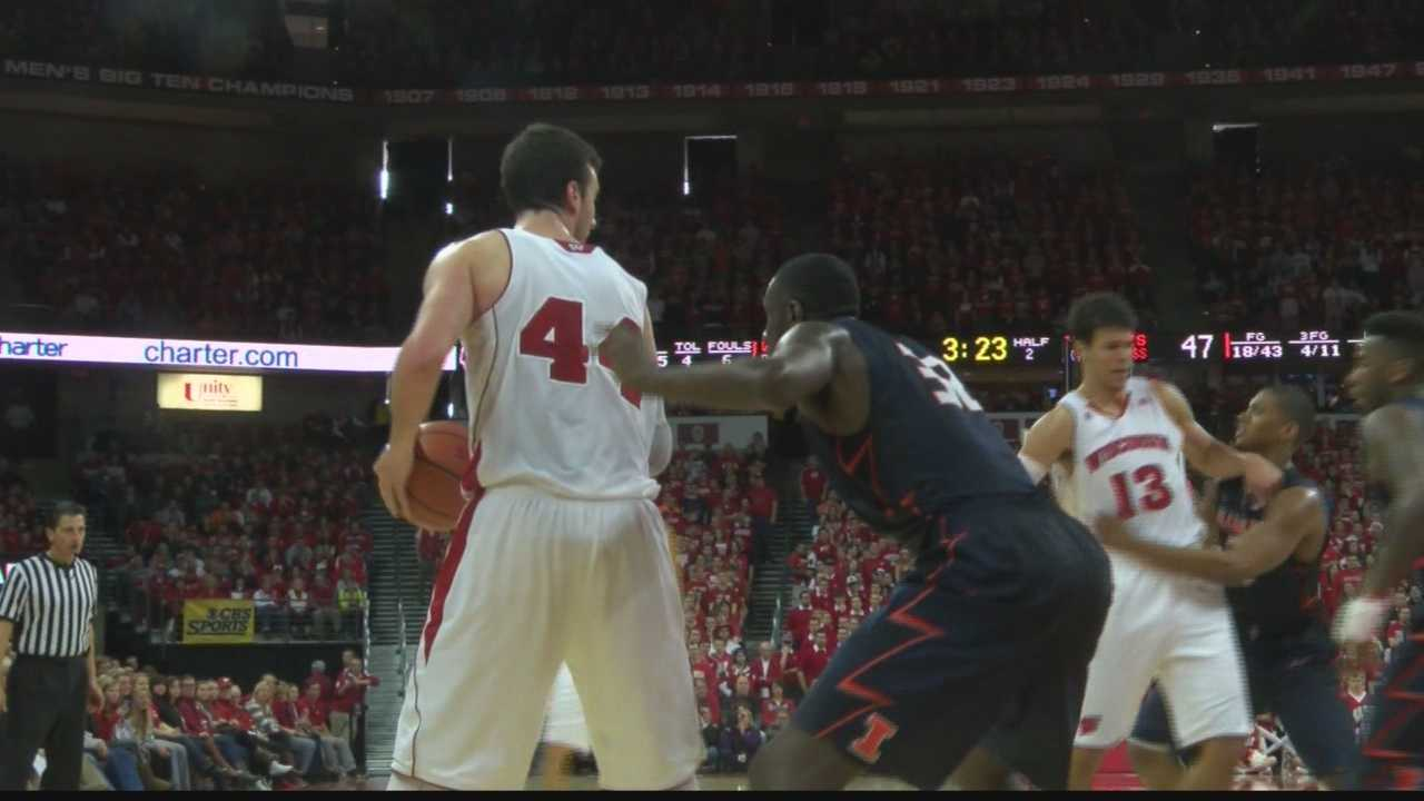 The 5th ranked Wisconsin Badgers defeated Illinois 68-49 at the Kohl Center. Frank Kaminsky scored a game-high 23 points and 11 rebounds.