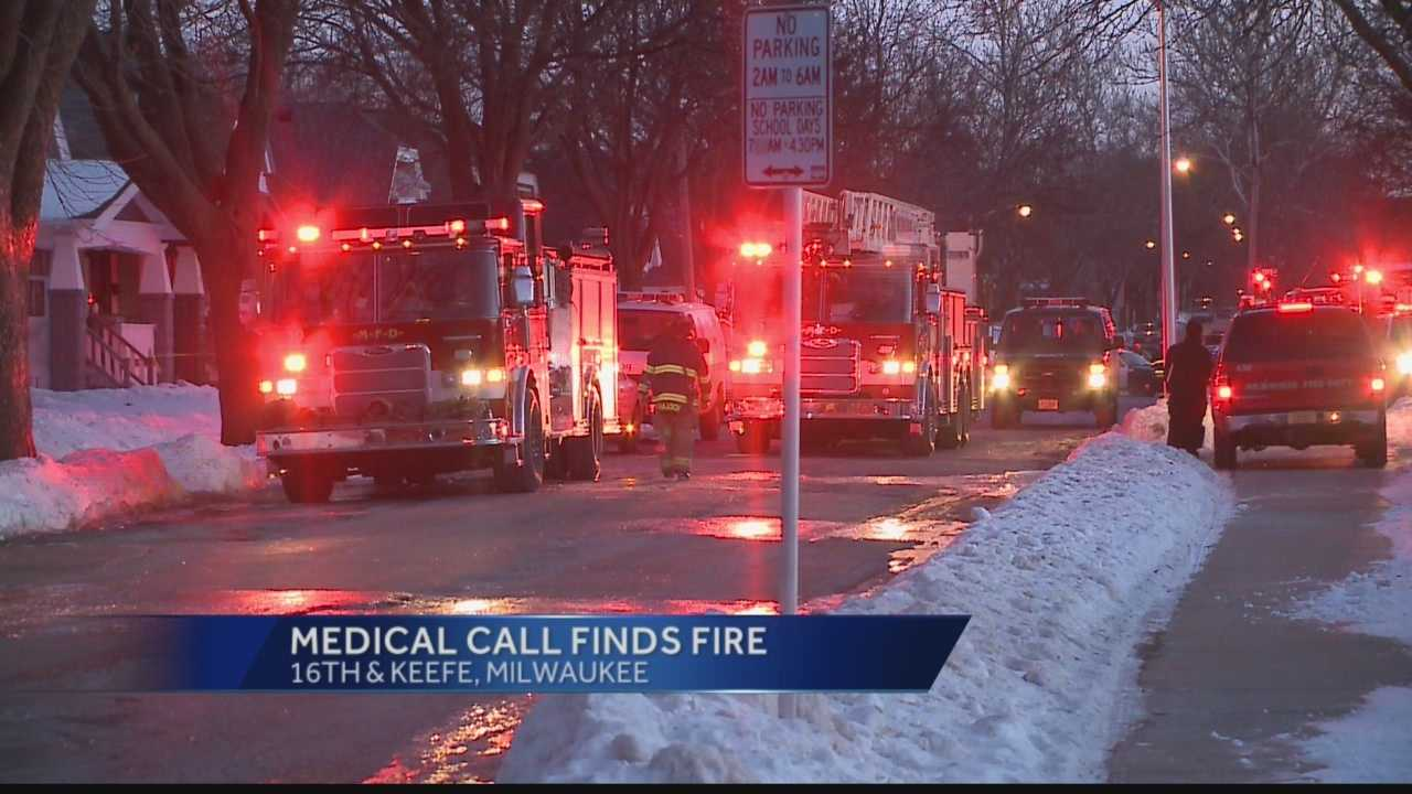 The fire broke out Saturday afternoon near 16th & Keefe