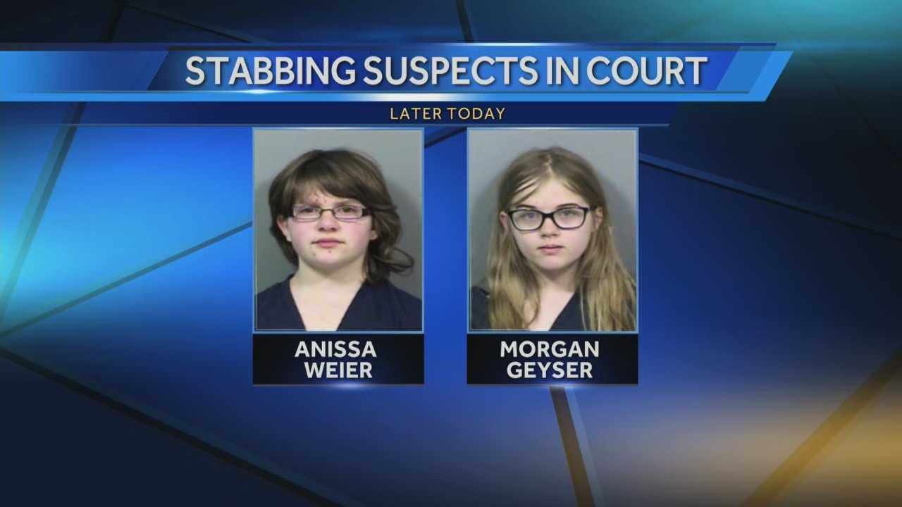 Two Waukesha girls accused of stabbing a friend 19 times to please a fictional character named The Slenderman are scheduled for a court hearing Monday.