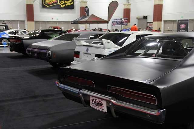 All 5 cars are on display at the World of Wheels Auto Show.