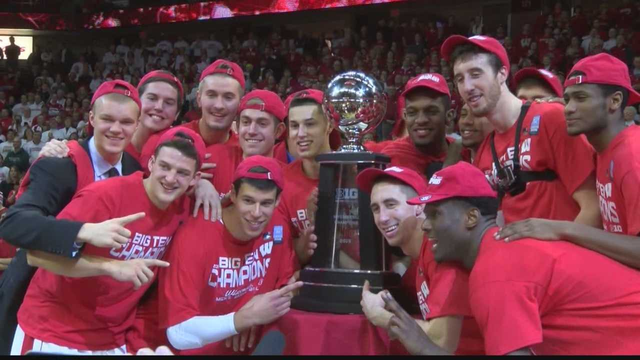 No. 5 Wisconsin claimed a share of their first Big Ten title since 2008 after a 68-61 win over Michigan State on Sunday. Senior Frank Kaminsky scored a game-high 31 points in the win.