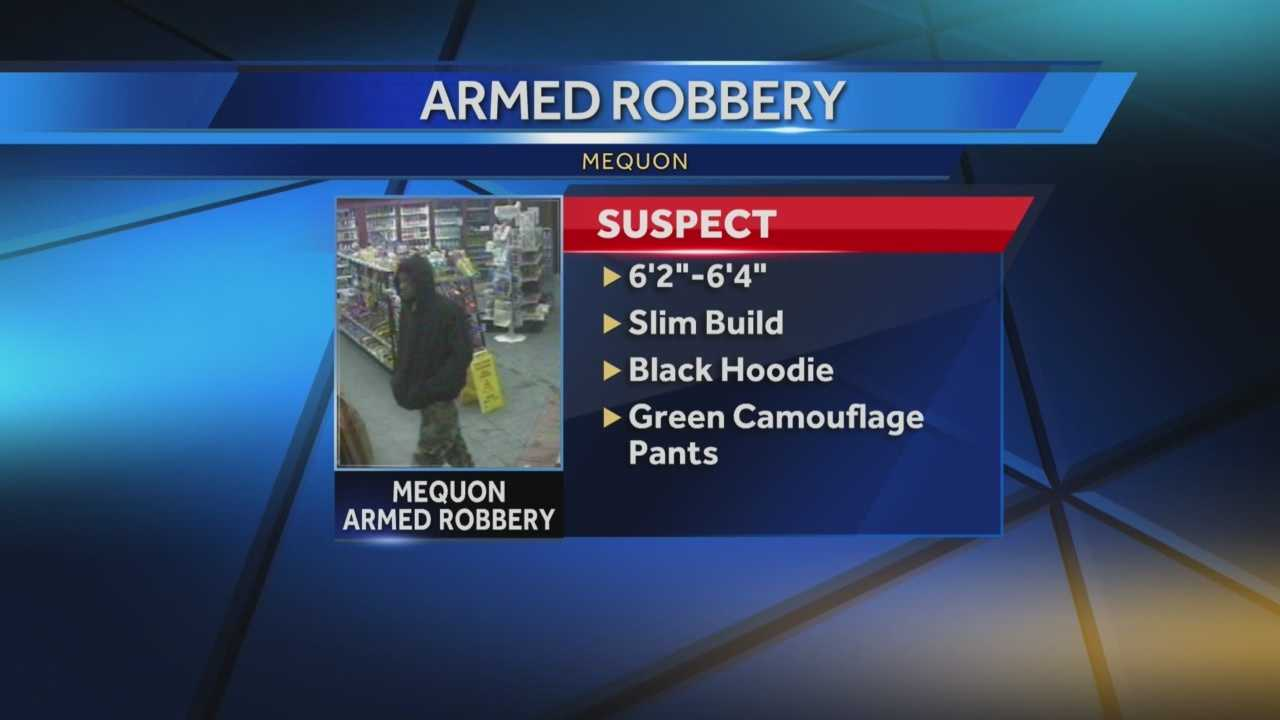 Mequon police are searching for a man who robbed a BP gas station just before 10 p.m. Tuesday.