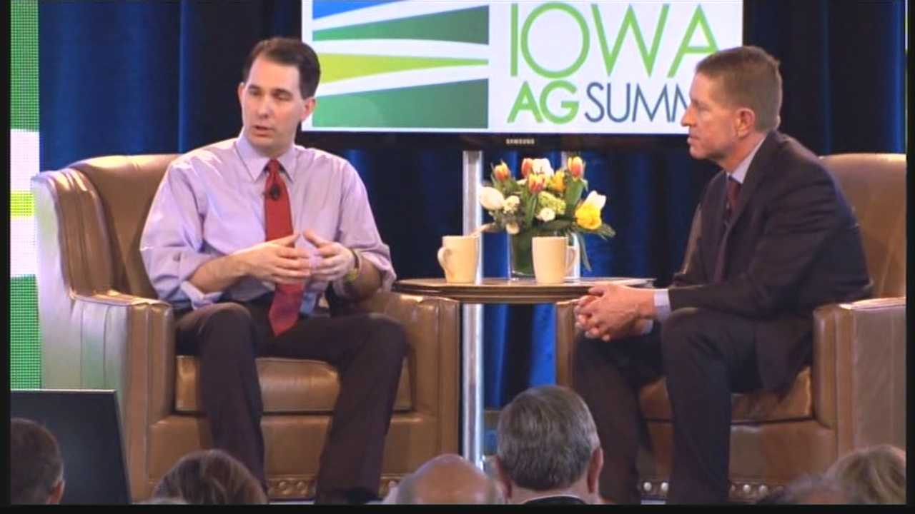 Walker touched on topics including immigration and alternative energy.
