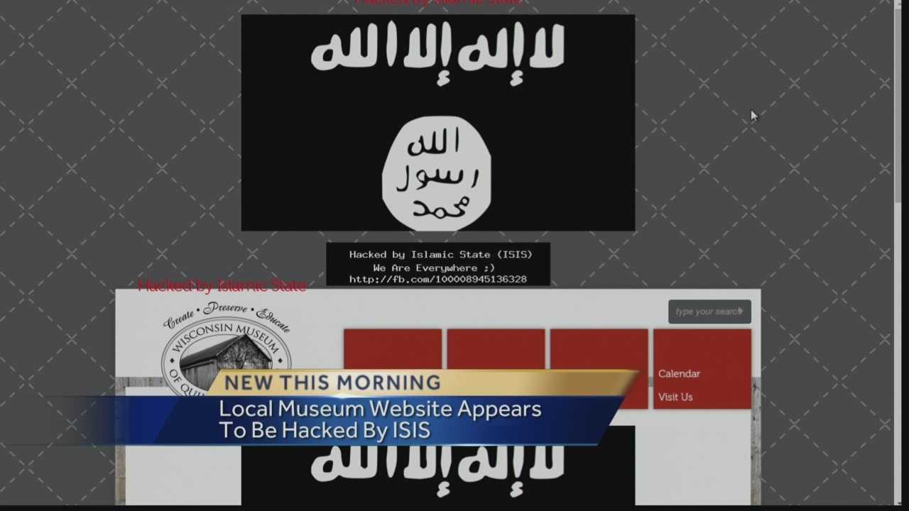 "THE ""WISCONSIN MUSEUM OF QUILTS AND FIBER ARTS"" HOME PAGE READS ""HACKED BY ISLAMIC STATE, WE ARE EVERYWHERE"". THERE'S ALSO AUDIO OF CHANTING WHEN YOU OPEN THE PAGE."