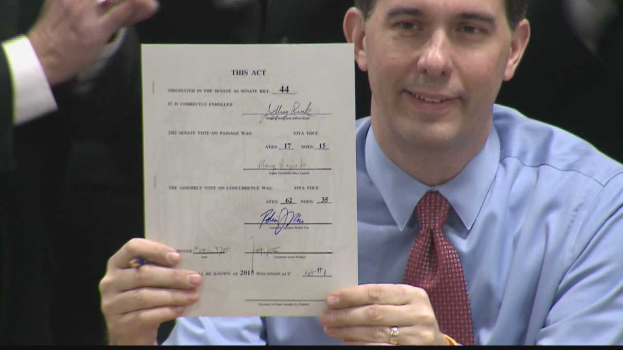 Today Governor Walker signed into law the Right-To-Work bill&#x3B; impact for some industries was immediate.