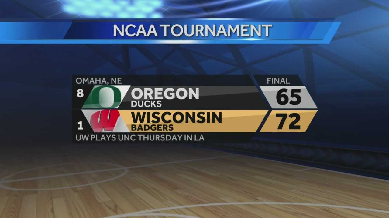 Wisconsin defeated Oregon 72-65 on Sunday night to advance to the Sweet 16. Stephen Watson brings live coverage from Omaha.