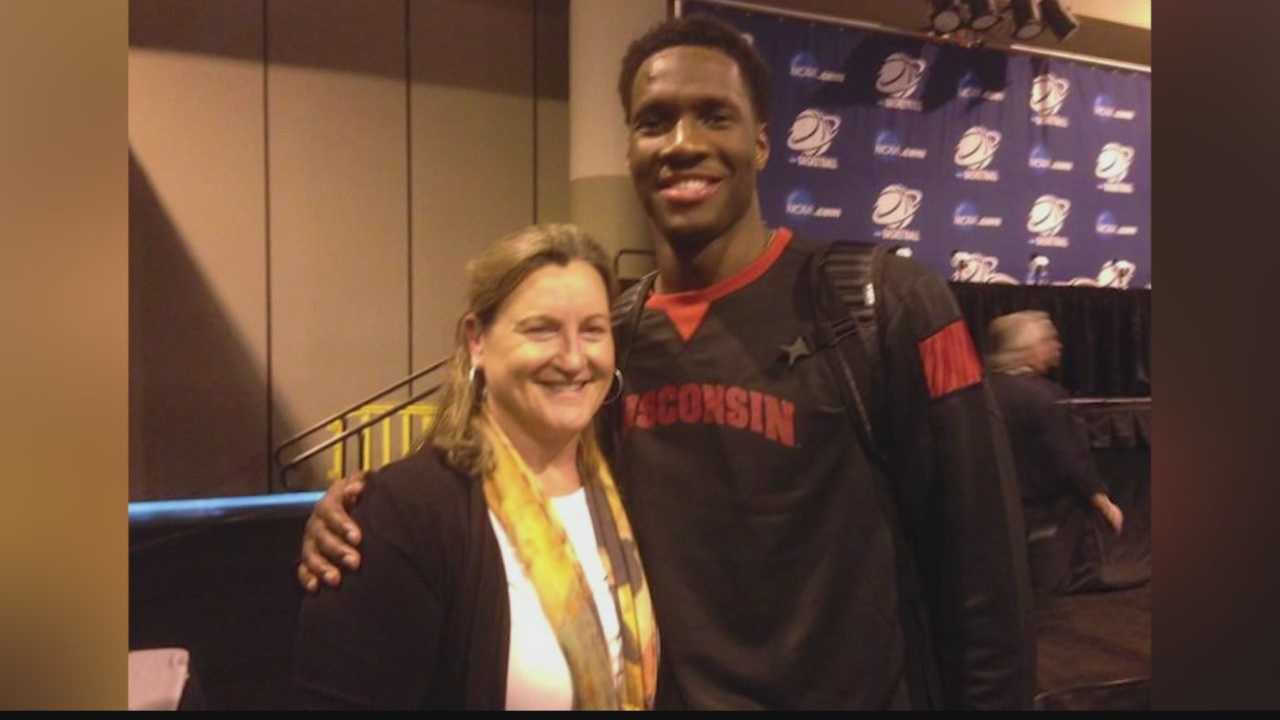 Badgers forward Nigel Hayes brought a sense of humor to the NCAA tournament and developed a friendship with the site stenographer