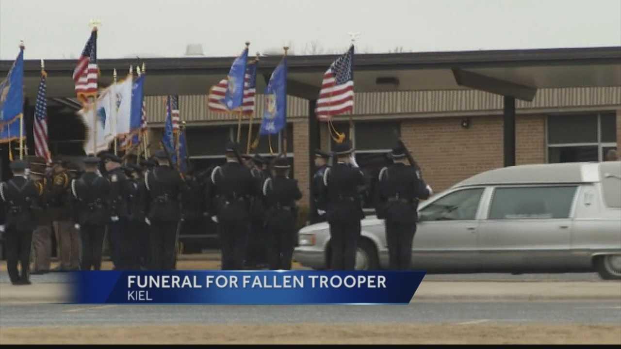 Trooper Trevor Casper was shot and killed in a shootout last week.