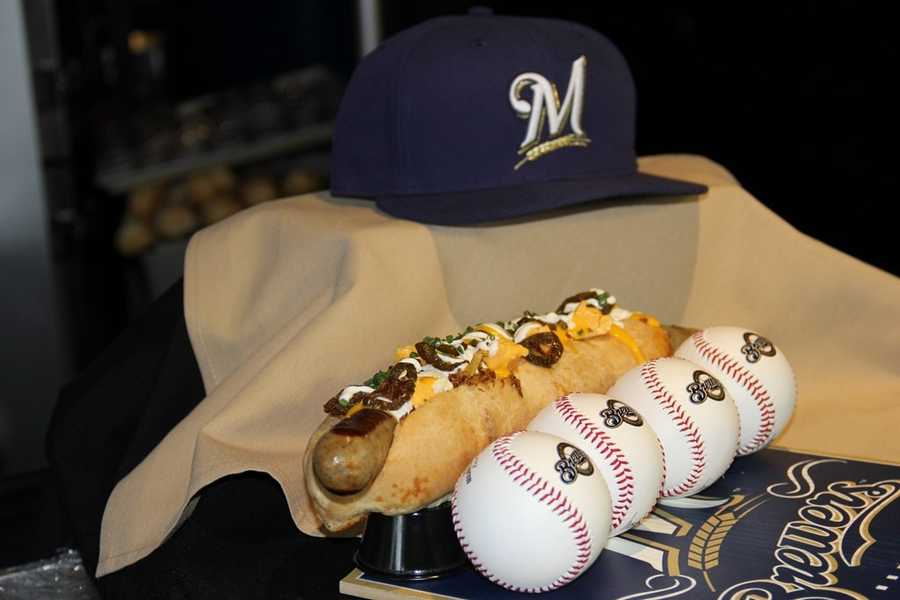 Miller Park was opened to the media today to show off some of the newest culinary creations that will be available this season at the Milwaukee Brewers home games.