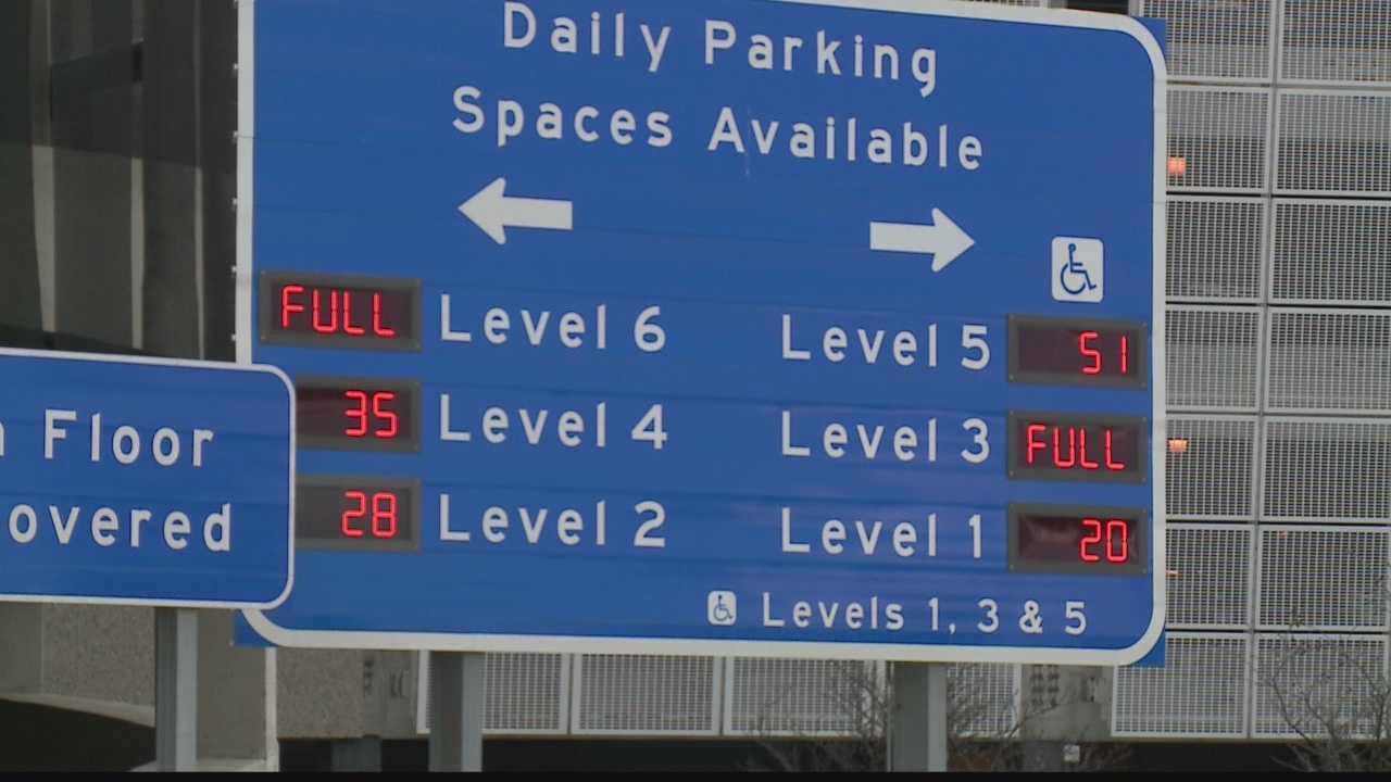 Mitchell International has opened extra lots and websites track the availability of parking spaces that can be reserved
