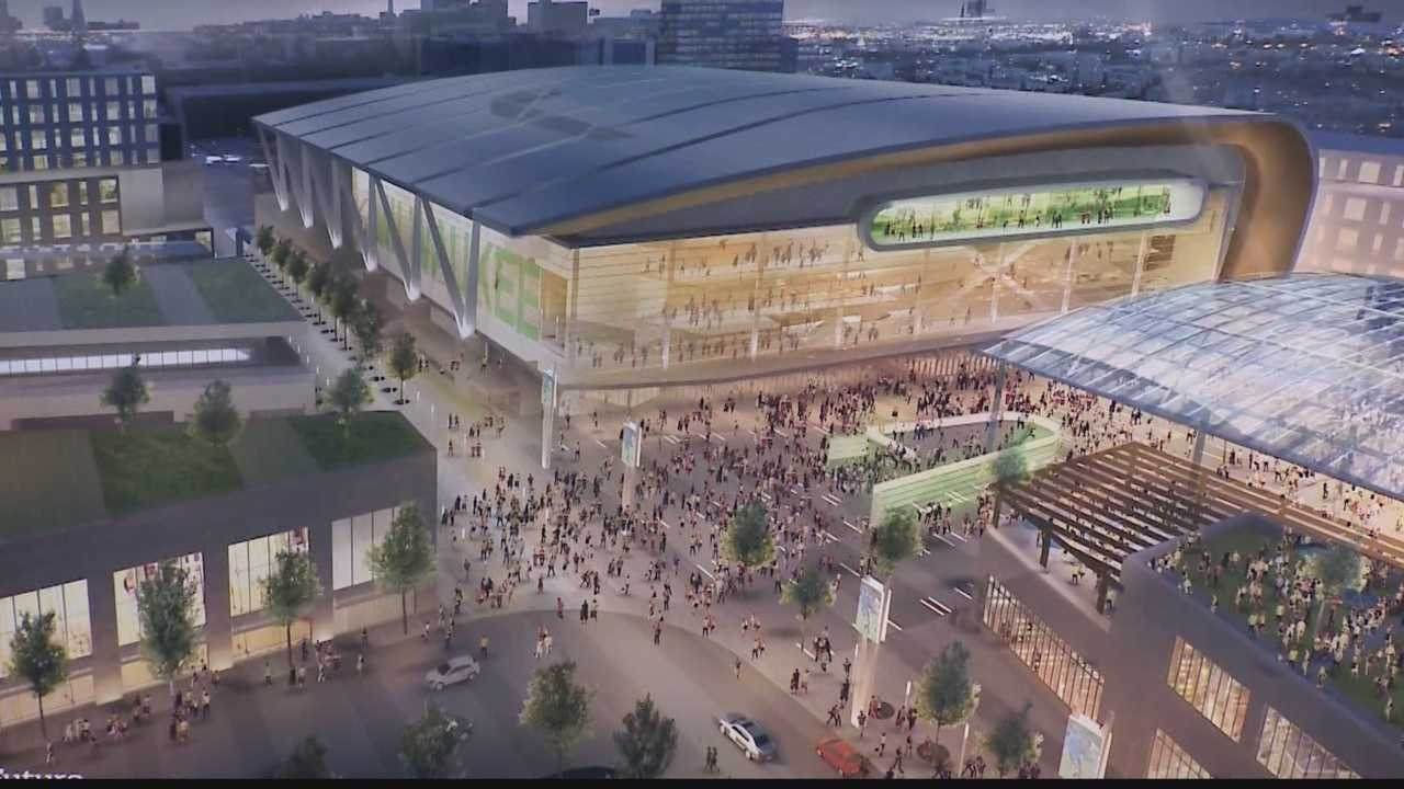 The Bucks' new arena would be built just north of the Bradley Center but surrounded by new entertainment and retail development.