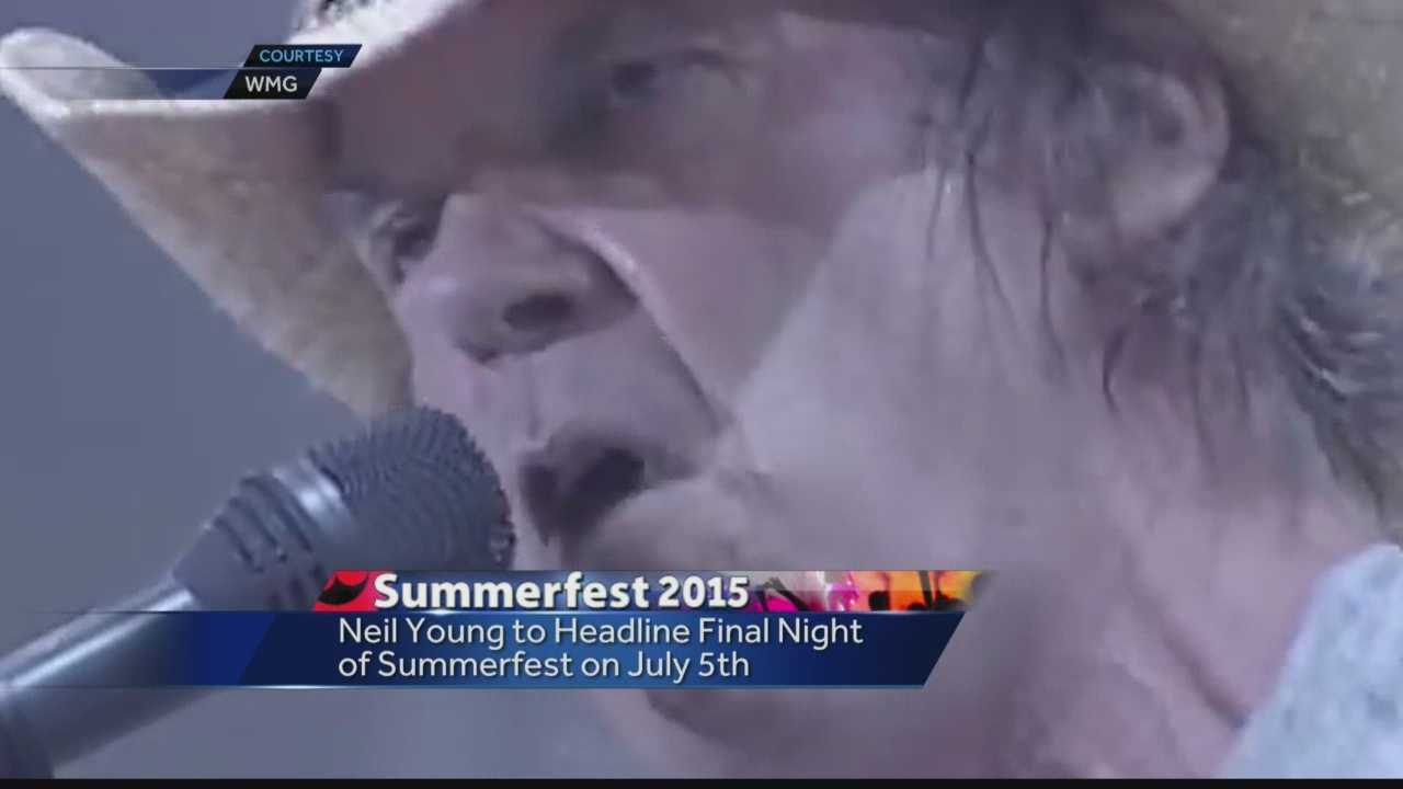 Neil Young announces he will be playing Summerfest July 5th