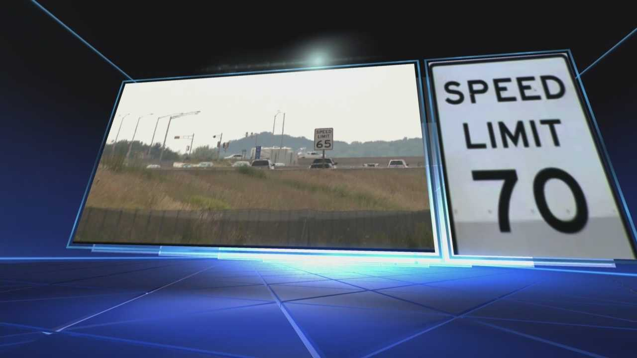 Bill would up the speed limit in some areas to 70 miles per hour.