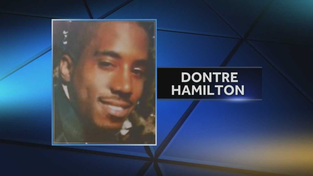 12 News Terry Sater talks with the family of Dontre Hamilton.
