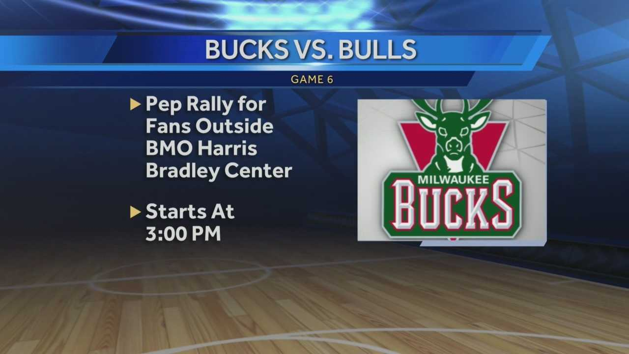 It's Game Six of the Bucks/Bulls playoff series.  A rally will be held outside the BMO Harris Bradley Center starting at 3pm