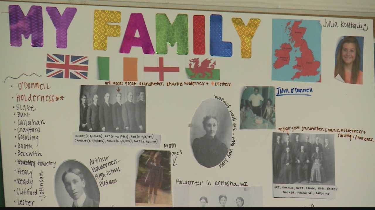 Students at Oak Creek High School received the results of their DNA tests, revealing their heritage.