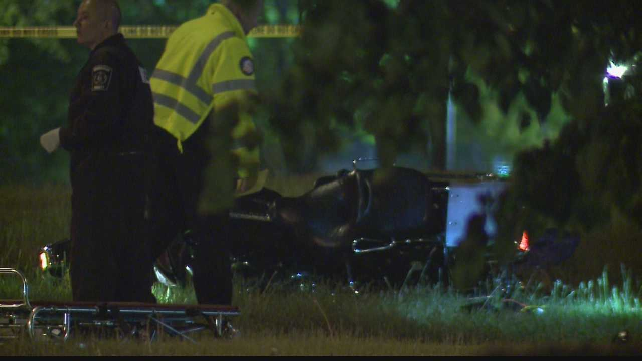 A 56-year-old man was killed in a motorcycle crash on Sunday night.