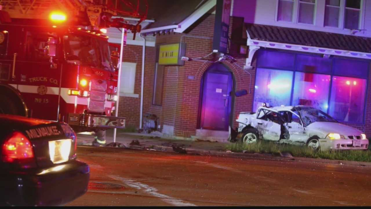 The crash happened Saturday night near 18th St. & Atkinson Ave.