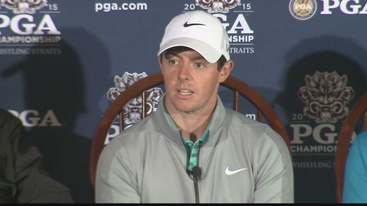 Ahead of the PGA Championship at Whistling Straits, Rory McIlroy discusses the championship courses in the state of Wisconsin