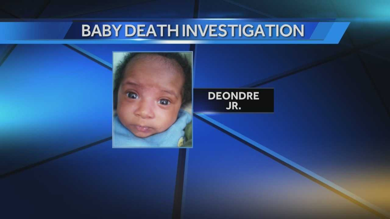 The nearly four-month-old boy died Saturday in a home near 14th & Becher