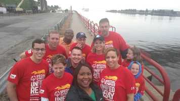WISN had a team that carried the torch to start Day 21 of the relay.