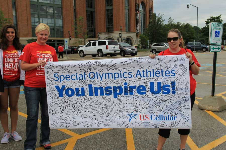 A number of US Cellular employees participated in the relay near Miller Park.