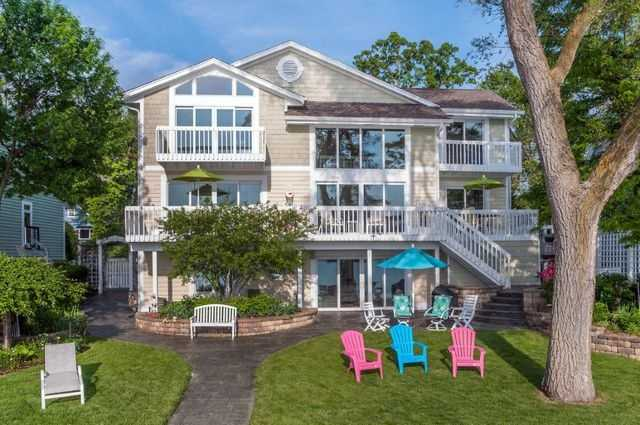 Enjoy Spectacular Westerly sunsets from this outstanding Pewaukee Lake home. The close proximity to the lake offers outstanding views from most every room of the house.Click here to see more.