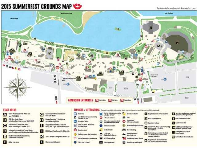 Map Of Summerfest Grounds - Summerfest grounds map