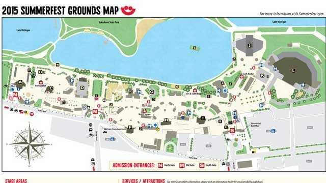 Map of Summerfest Grounds