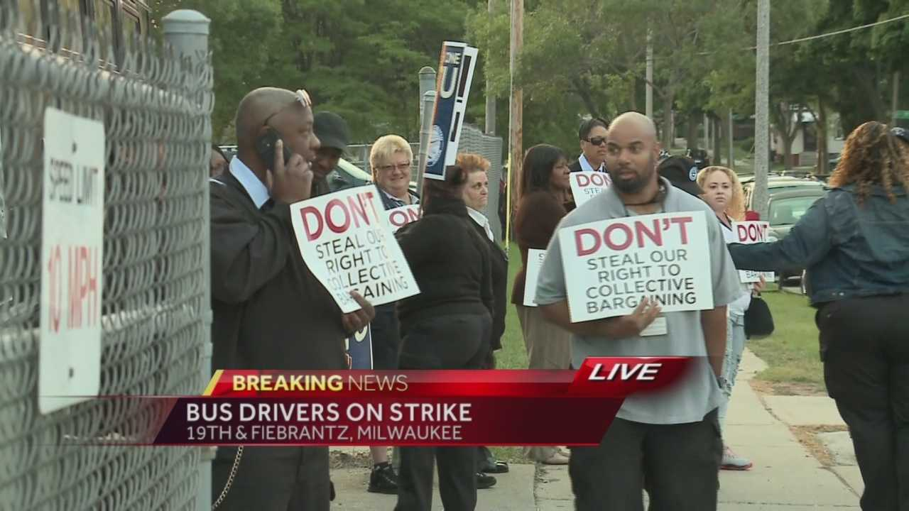 MCTS drivers and mechanics began a three-day strike early this morning. WISN 12 News' Hillary Mintz reports from the picket lines.