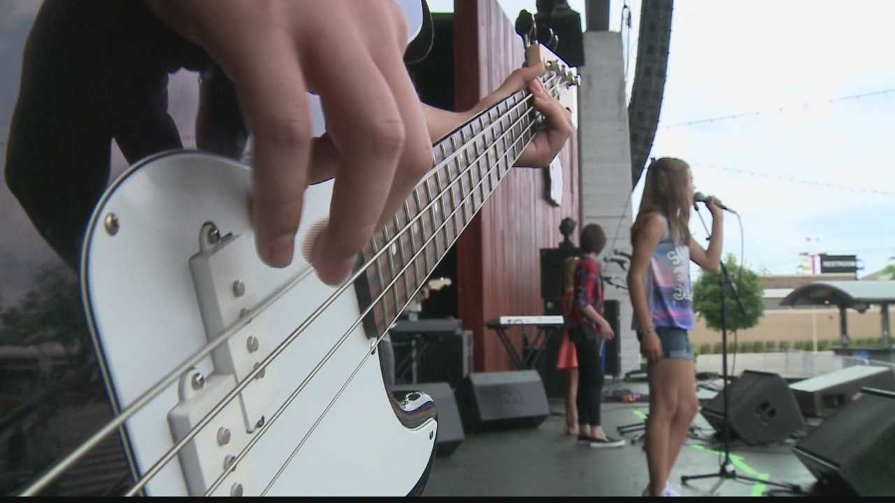 WISN 12's Mike Anderson catches up with a few students enrolled in the School of Rock, who are getting a chance to showcase their talents at this year's Summerfest.