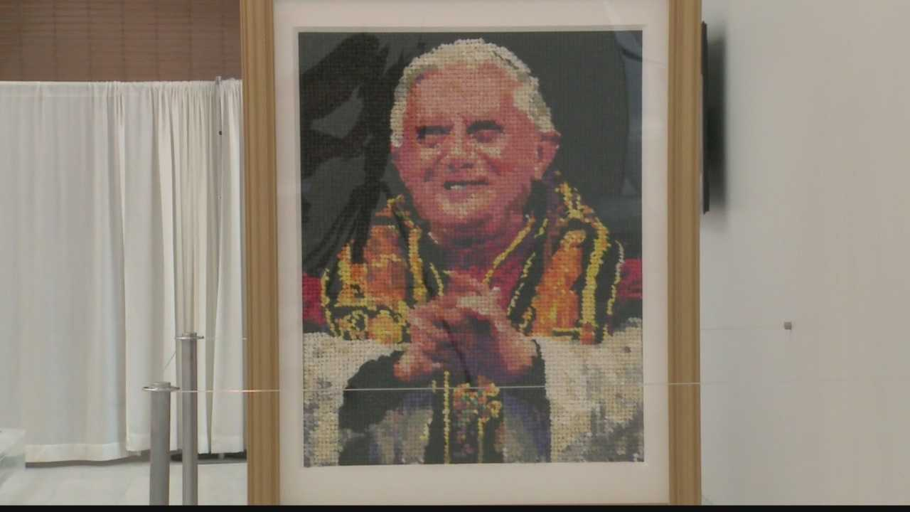 As WISN 12 News' Colleen Henry reports, a papal portrait made of condoms is sparking controversy.