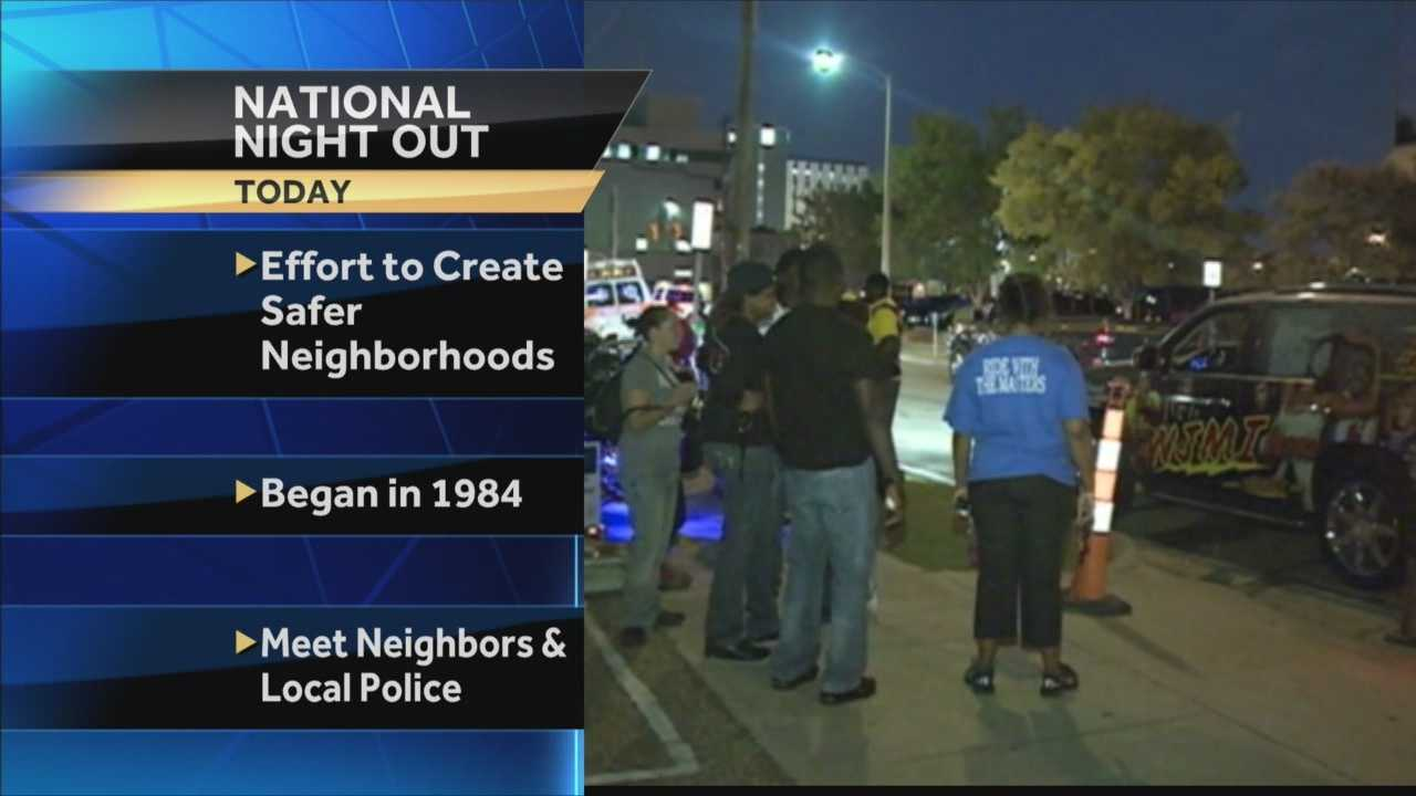 Several communities will celebrate National Night Out this week.