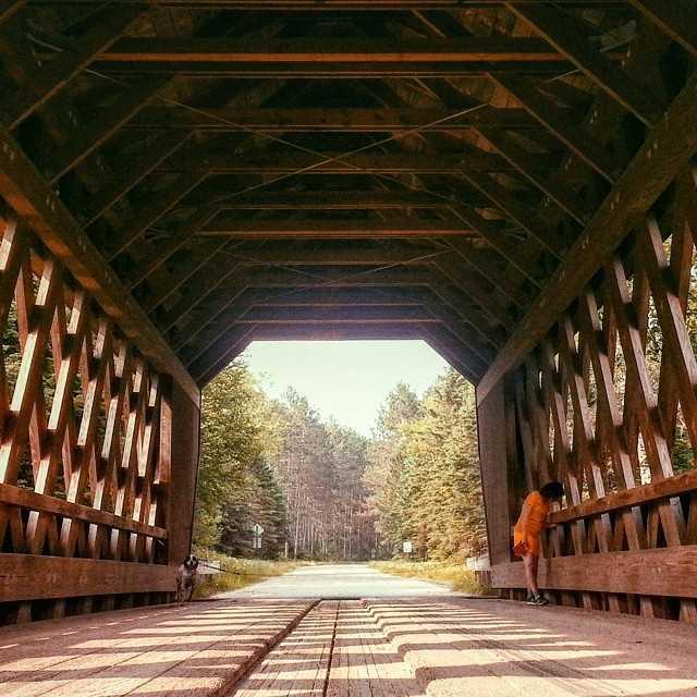 Smith Rapids Covered Bridge, Park Falls.