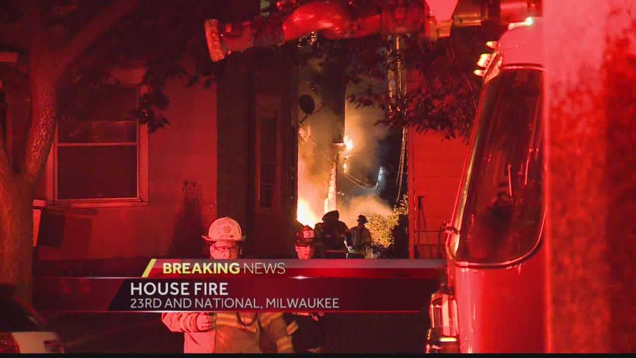 Milwaukee firefighters believe an air conditioner sparked an early-morning house fire near 23rd and National Monday morning. WISN 12 News' Hillary Mintz reports from the scene.
