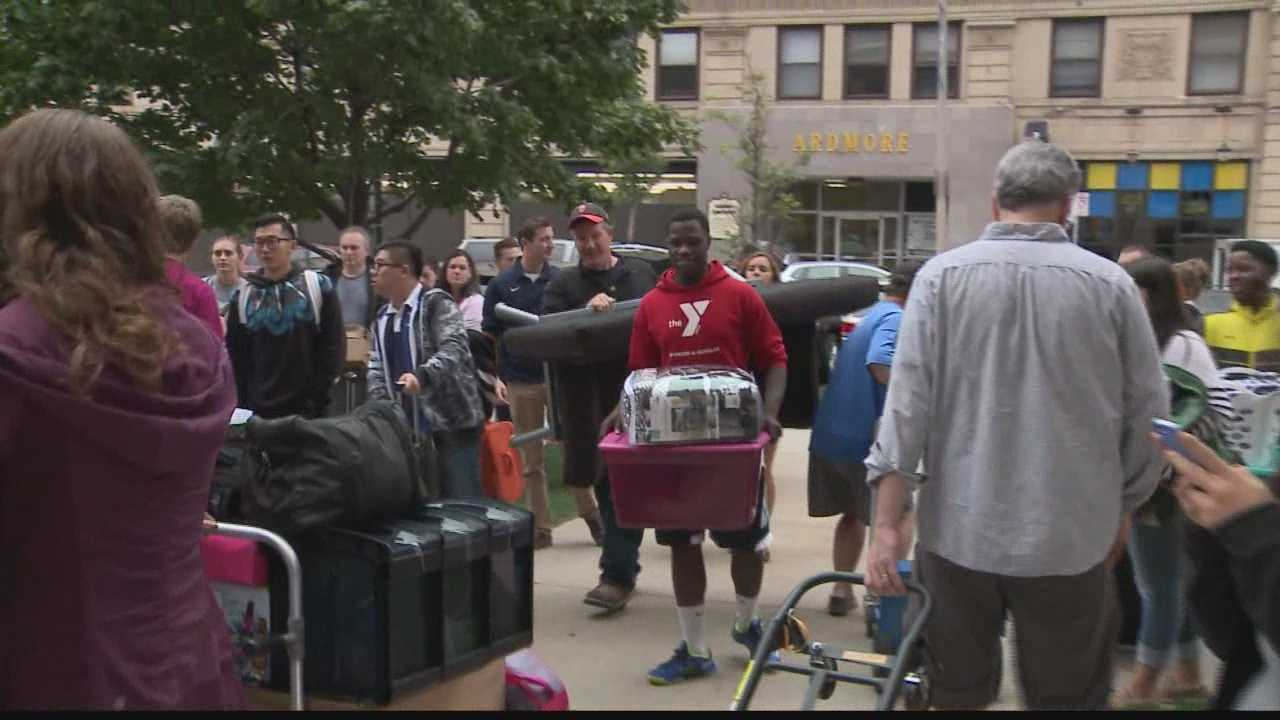 1900 freshmen moved into the Marquette dorms today
