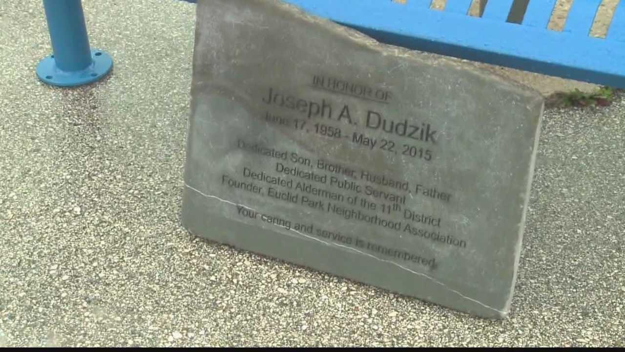 Alderman Dudzik died in a motorcycle crash earlier this year.