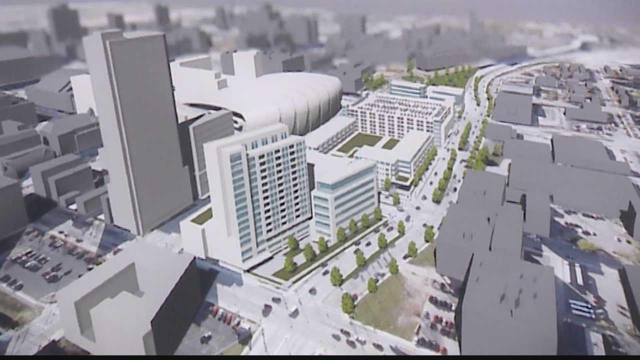 Milwaukee Bucks officials rolled out rendering of proposed downtown development
