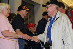 The stars of Honor Flight (the movie) turn out every homecoming to welcome home the returning honor flight vets.