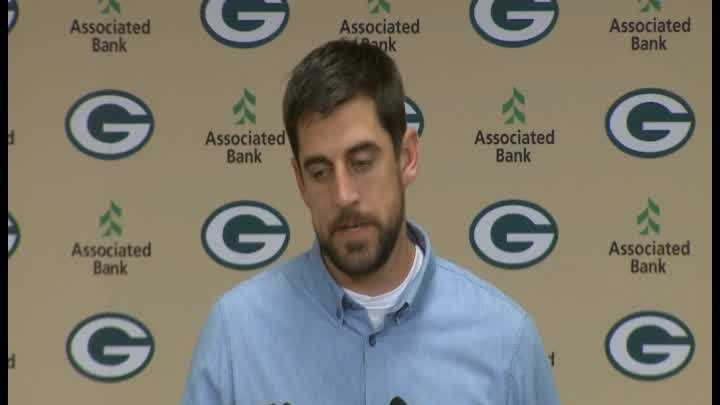 Aaron Rodgers said God was a Packers fan Sunday night. That's in contrast to what he said after the NFC Championship game last January.