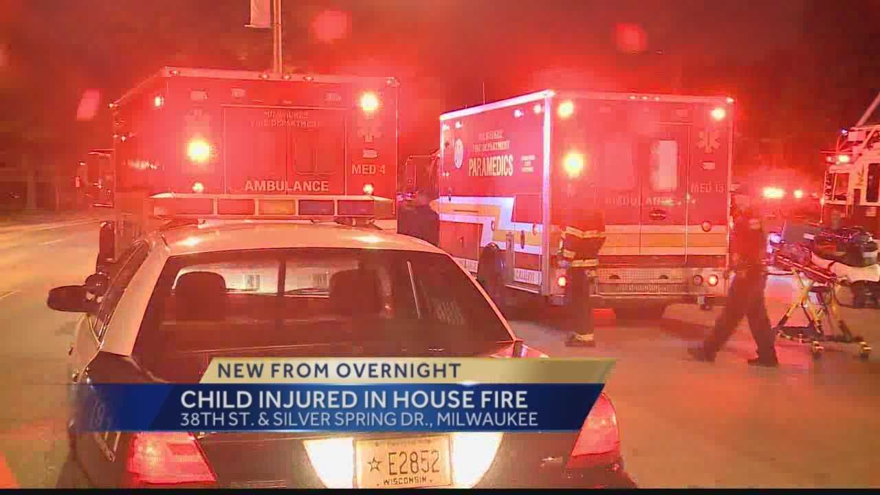 Milwaukee fire officials said a juvenile was removed from a burning home near 38th and Silver Spring.