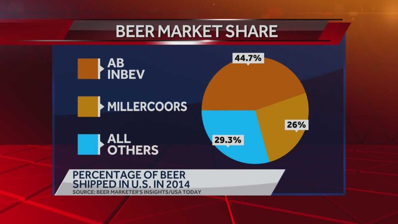 The parent companies of Budweiser and Miller have reached a tentative merger agreement... which would make it the largest beer takeover in history.