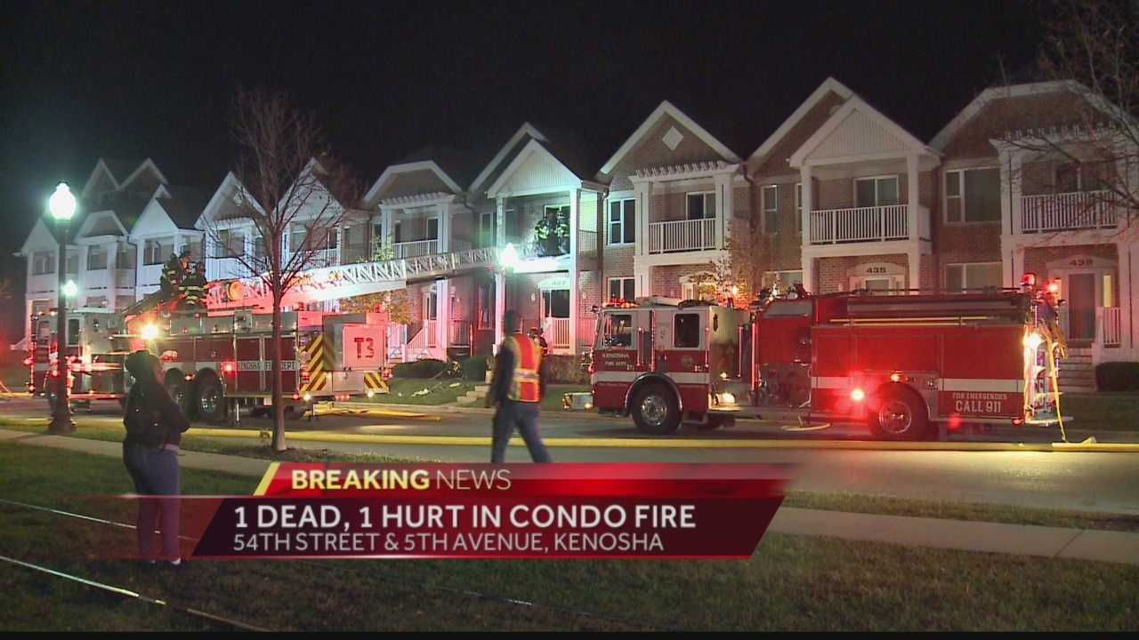 One person was killed and another airlifted to the hospital after an early-morning condo fire in Kenosha.