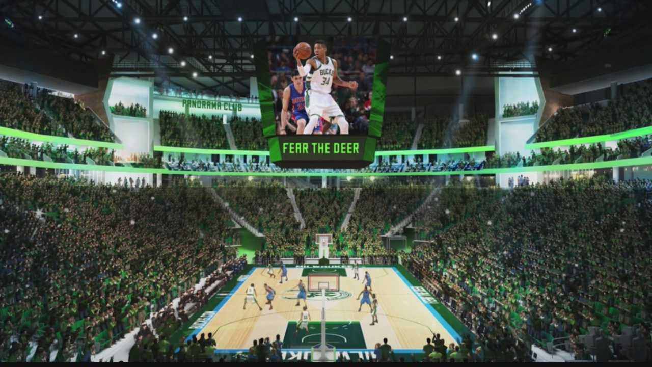 The team unveiled new drawings Saturday of the Bucks new arena