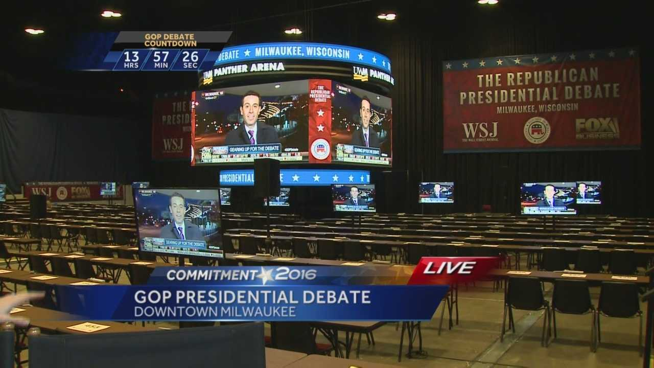 The top Republican candidates for president will debate in Milwaukee Tuesday at the Milwaukee Theater.