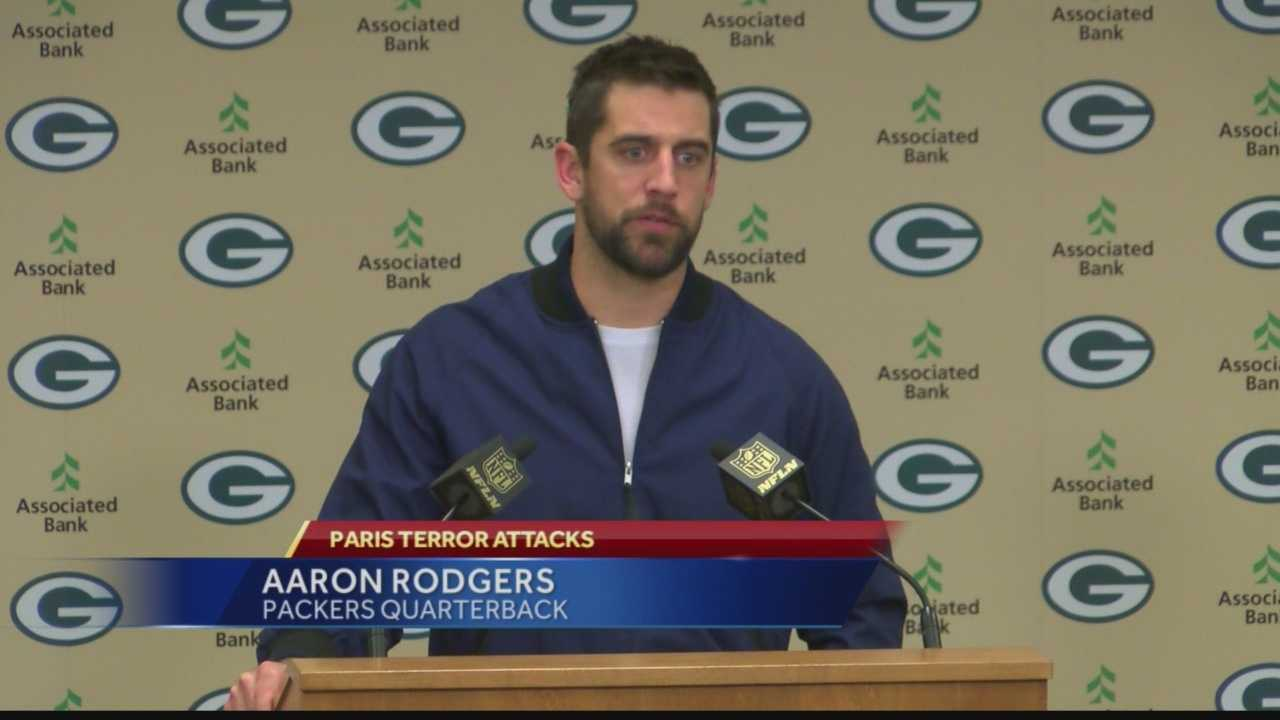 The fans at Lambeau Field participated in a moment of silence in honor of the terror victims in France.  But Aaron Rodgers was unhappy with one fan who decided to yell while others were quiet.