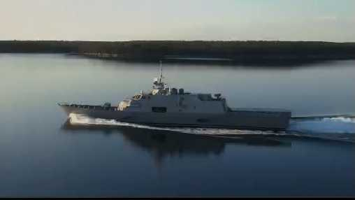 The USS Milwaukee arrived in the city Monday, Nov. 16.