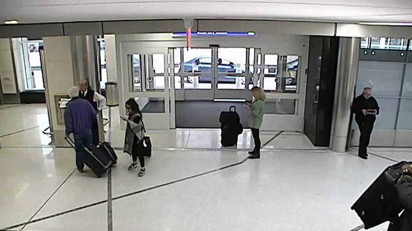 A Milwaukee man is charged with stealing luggage from Mitchell International Airport. Watch as he leaves with it.
