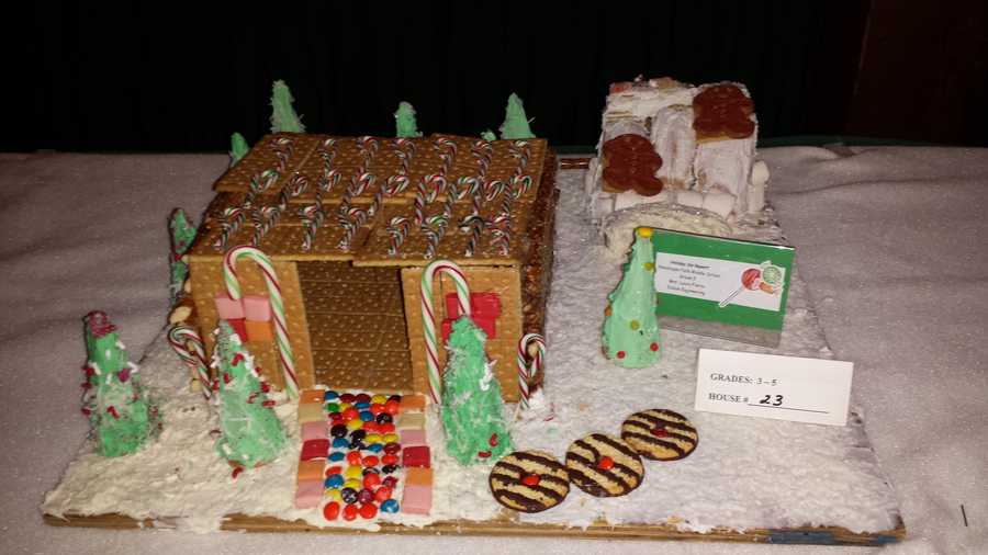 "A graham cracker ""Holiday Ski Resort"""