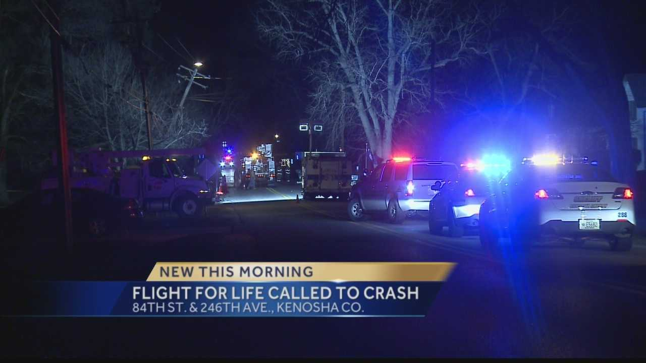 Flight for Life Called to Kenosha Co. Crash